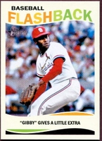 2013 Topps Heritage Baseball Flashbacks Bob Gibson Baseball Card