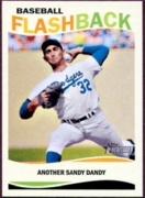 2013 Topps Heritage Baseball Flashbacks Sandy Koufax Baseball Card