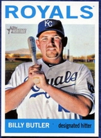 2013 Topps Heritage Billy Butler Short Print Baseball Card