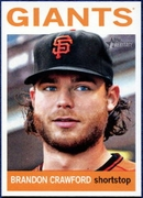 2013 Topps Heritage Brandon Crawford Baseball Card