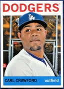 2013 Topps Heritage Carl Crawford Baseball Card