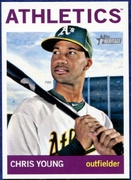 2013 Topps Heritage Chris Young A's Baseball card