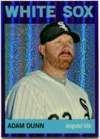 2013 Topps Heritage Chrome Purple Refractors Adam Dunn Baseball Card