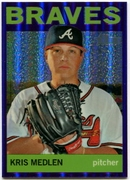 2013 Topps Heritage Chrome Purple Refractors Kris Medlen Baseball Card