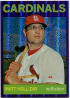 2013 Topps Heritage Chrome Purple Refractors Matt Holliday Baseball Card