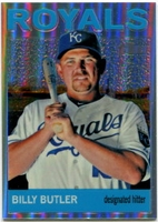 2013 Topps Heritage Chrome Refractors Billy Butler Baseball Card