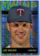 2013 Topps Heritage Chrome Refractors Joe Mauer Baseball Card