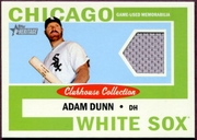 2013 Topps Heritage Clubhouse Collection Relics Adam Dunn Baseball Card