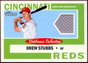 2013 Topps Heritage Clubhouse Collection Relics Drew Stubbs Baseball Card