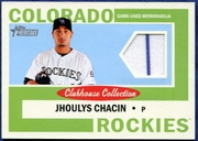 2013 Topps Heritage Clubhouse Collection Relics Jhoulys Chacin Baseball Card
