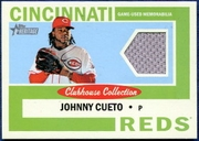 2013 Topps Heritage Clubhouse Collection Relics Johnny Cueto Baseball Card
