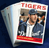 2013 Topps Heritage Detroit Tigers Baseball Cards Team Set