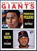 2013 Topps Heritage Giants Rookie Stars Francisco Peguero & Jean Machi Baseball Card