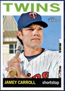 2013 Topps Heritage Jamey Carroll Baseball Card