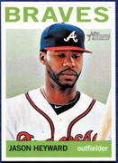 2013 Topps Heritage Jason Heyward Baseball Card