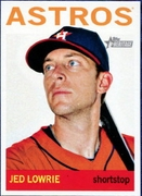 2013 Topps Heritage Jed Lowrie Baseball Card