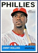 2013 Topps Heritage Jimmy Rollins Baseball Card