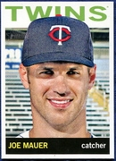 2013 Topps Heritage Joe Mauer Baseball Card