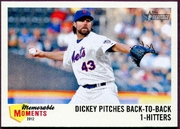 2013 Topps Heritage Memorable Moments R.A. Dickey Baseball Card