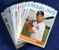 2013 Topps Heritage Miami Marlins Baseball Cards Team Set
