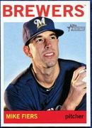 2013 Topps Heritage Mike Fiers Baseball Card