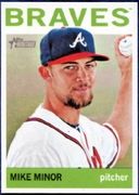 2013 Topps Heritage Mike Minor Baseball Card