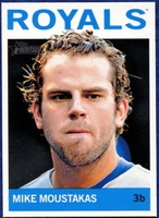 2013 Topps Heritage Mike Moustakas Baseball Card