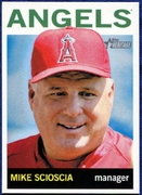 2013 Topps Heritage Mike Scioscia Manager Baseball Card