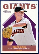2013 Topps Heritage New Age Performers Matt Cain Baseball Card