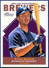 2013 Topps Heritage New Age Performers Ryan Braun Baseball Card