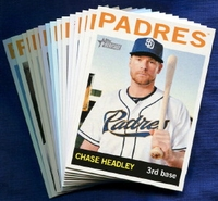 2013 Topps Heritage San Diego Padres Baseball Cards Team Set