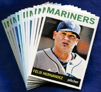 2013 Topps Heritage Seattle Mariners Baseball Cards Team Set