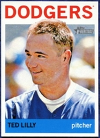 2013 Topps Heritage Ted Lilly Baseball Card