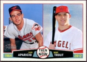 2013 Topps Heritage Then and Now Luis Aparicio & Mike Trout Baseball Card