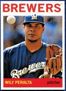 2013 Topps Heritage Wily Peralta Baseball Card