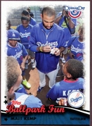 2013 Topps Opening Day Ballpark Fun Matt Kemp Baseball Card