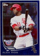 2013 Topps Opening Day Blue Sparkle Alex Rios Baseball Card