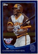 2013 Topps Opening Day Blue Sparkle Cameron Maybin Baseball Card