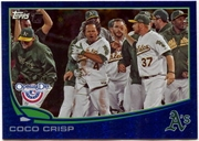 2013 Topps Opening Day Blue Sparkle Coco Crisp Baseball Card
