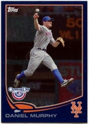 2013 Topps Opening Day Blue Sparkle Daniel Murphy Baseball Card
