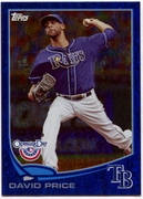 2013 Topps Opening Day Blue Sparkle David Price Baseball Card