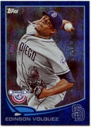 2013 Topps Opening Day Blue Sparkle Edinson Volquez Baseball Card