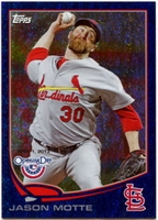 2013 Topps Opening Day Blue Sparkle Jason Motte Baseball Card