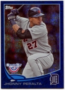 2013 Topps Opening Day Blue Sparkle Jhonny Peralta Baseball Card