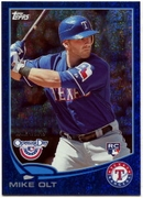 2013 Topps Opening Day Blue Sparkle Mike Olt Baseball Card