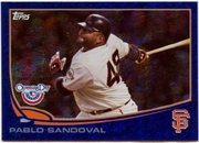 2013 Topps Opening Day Blue Sparkle Pablo Sandoval Baseball Card