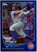 2013 Topps Opening Day Blue Sparkle Starlin Castro Baseball Card