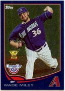2013 Topps Opening Day Blue Sparkle Wade Miley Baseball Card