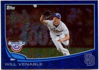 2013 Topps Opening Day Blue Sparkle Will Venable Baseball Card