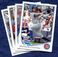 2013 Topps Opening Day Chicago Cubs Baseball Cards Team Set